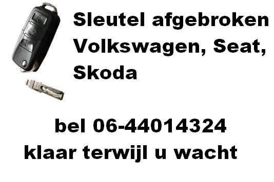 Gerepareerde autosleutel - Volkswagen - Carkeys